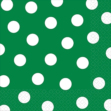 Amscan Polka Dots Lunch Napkins, 6.5