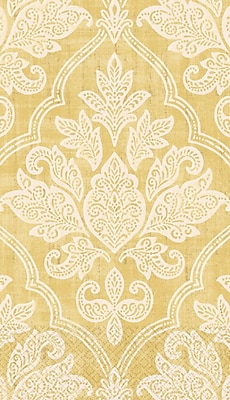 """Amscan Gold Damask Guest Towels, 7.75"""" x 4.5"""", 4/Pack, 16 Per Pack (530008)"""