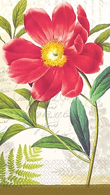 Amscan Botanical Peony Eco-Friendly Guest Towels, 7.75'' x 4.5'', 4/Pack, 16 Per Pack (530009)