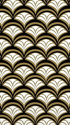 Amscan Scalloped Guest Towels, 7.75'' x 4.5'', Gold, 4/Pack, 16 Per Pack (530012)
