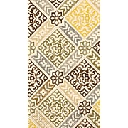 Amscan Medallion Print Guest Towels, 7.75'' x 4.5'', Gold, 4/Pack, 16 Per Pack (530014)