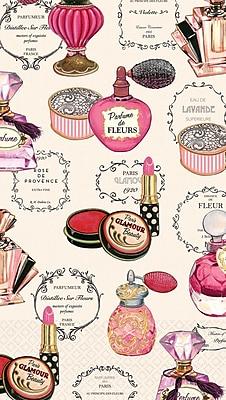 Amscan Parfums De Paris Guest Towels, 7.75'' x 4.5'', 4/Pack, 16 Per Pack (530026)