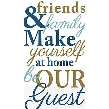 Amscan Family & Friends Guest Towels, 7.75'' x 4.5'', 4/Pack, 16 Per Pack (530041)