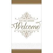 """Amscan Premium Welcome Guest Towels, 7.75"""" x 4.5"""", Gold, 3/Pack, 16 Per Pack (530057)"""
