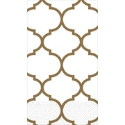 Amscan Premium Lattice Guest Towels, 7.75'' x 4.5'', Gold, 3/Pack, 16 Per Pack (530063)
