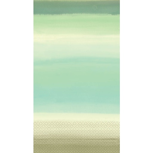 Amscan Beach Glass Guest Towels, 7.75'' x 4.5'', 4/Pack, 16 Per Pack (538522)