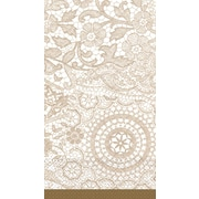 Amscan Delicate Lace Guest Towels, 7.75'' x 4.5'', 4/Pack, 16 Per Pack (538523)