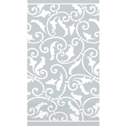 "Amscan Ornamental Scroll Guest Towels, 7.75"" x 4.5"", Silver, 4/Pack, 16 Per Pack (539339.18)"