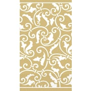 Amscan Ornamental Scroll Guest Towels, 7.75'' x 4.5'', Gold, 4/Pack, 16 Per Pack  (539339.19)