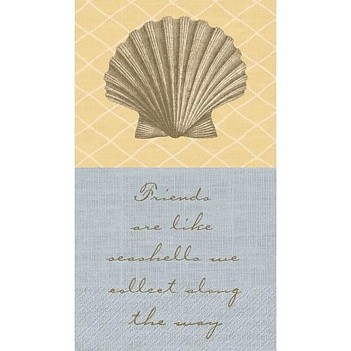 "Amscan Shoreline, Eco-Friendly Guest Towels, 7.75"" x 4.5"", 4/Pack, 16 Per Pack (539513)"