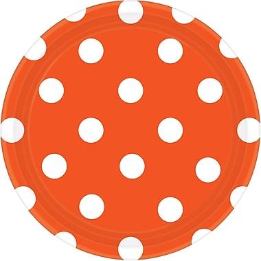 Amscan Polka Dots Round Paper Plates, 7