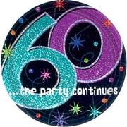 Amscan 7'' The Party Continues 60 Round Paper Plates, 8/Pack, 8 Per Pack (549797)