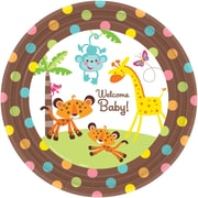 "Amscan Fisher Price Baby Shower 10.5"" Round Paper Plates, 8/Pack, 8 Per Pack (554416)"