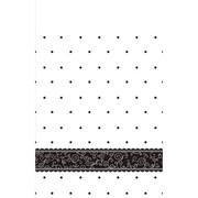 """Amscan 102"""" x 54"""" Black and White Wedding Tablecover (571091)"""