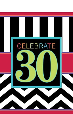 Amscan 30th Celebration Tablecover, 102'' x 54'', 4/Pack (571365)