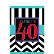 Amscan 40th Celebration Table Cover, 102''L x 54''W, 4/Pack (571366)