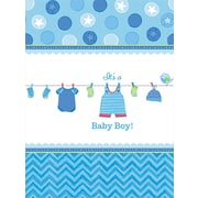Amscan 102'' x 54'' Boy Shower With Love Tablecover, 4/Pack (571491)
