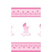 Amscan Celebrate Baby Girl Table Cover, 102''L x 54''W, 4/Pack (571526)