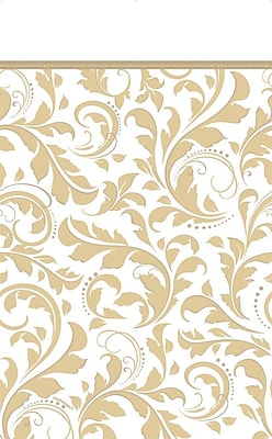 Amscan Gold Elegant Scroll Tablecover, 102'' x 54', 4/Pack (573851)