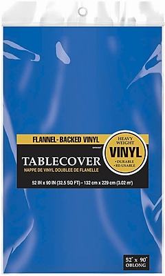 Amscan Flannel-Backed Vinyl Table Cover, 52