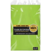 "Amscan 52"" x 90"" Kiwi Flannel-Backed Vinyl Table Cover, 3/Pack (579590.53)"