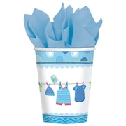 Amscan Shower With Love Boy, Blue/White, 8/Pack, 8 Per Pack (581491)