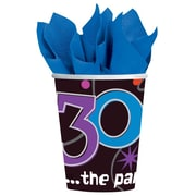 Amscan The Party Continues - 30 9oz Paper Cups, 8/Pack, 8 Per Pack (589794)