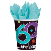 Amscan The Party Continues - 60 9oz Paper Cups, 8/Pack, 8 Per Pack (589797)