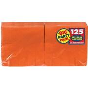 "Amscan Big Party Pack Napkins, 5"" x 5"", Orange, 6/Pack, 125 Per Pack (600013.05)"