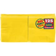 "Amscan Big Party Pack Napkins, 5"" x 5"", Sunshine Yellow, 6/Pack, 125 Per Pack (600013.09)"