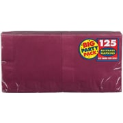 """Amscan Big Party Pack Napkins, 5"""" x 5"""", Berry, 6/Pack, 125 Per Pack (600013.27)"""