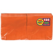 "Amscan Big Party Pack Napkins, 6.5"" x 6.5"", Orange, 4/Pack, 125 Per Pack (610013.05)"
