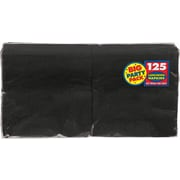"Amscan Big Party Pack Napkins, 6.5"" x 6.5"", Black, 4/Pack, 125 Per Pack (610013.1)"