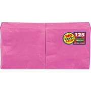 "Amscan Big Party Pack Napkins, 6.5"" x 6.5"", Bright Pink, 4/Pack, 125 Per Pack (610013.103)"