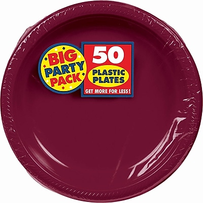 Amscan Big Party Pack Round Plastic Plate, 10.25