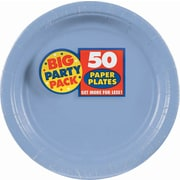 "Amscan Big Party Pack 7"" Pastel Blue Round Paper Plates, 6/Pack, 50 Per Pack (640013.108)"