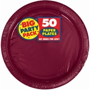 "Amscan Big Party Pack 7""W Round, Berry Paper Plates, 6/Pack, 50 Per Pack (640013.27)"