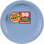 "Amscan 9"" Pastel Blue Big Party Pack Round Paper Plates, 5/Pack, 50 Per Pack (650013.108)"