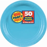 "Amscan 9"" Caribbean Big Party Pack Round Paper Plates, 5/Pack, 50 Per Pack (650013.54)"