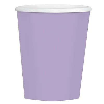 Amscan 12oz Lavender Paper Coffee Cup, 4/Pack, 40 Per Pack (689100.04)