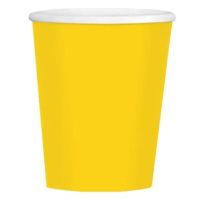 Amscan 12oz Yellow Paper Coffee Cup, 4/Pack, 40 Per Pack (689100.09) 1970881