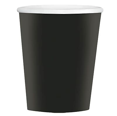 Amscan 12oz Black Paper Coffee Cup, 4/Pack, 40 Per Pack (689100.1)
