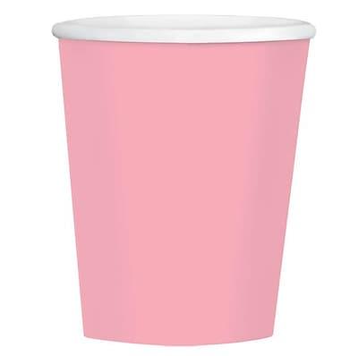 Amscan 12oz Pink Paper Coffee Cup, 4/Pack, 40 Per Pack (689100.109)