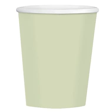 Amscan 12oz Leaf Green Paper Coffee Cup, 4/Pack, 40 Per Pack (689100.115)