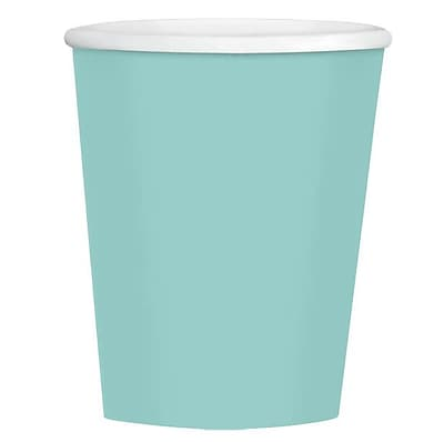 Amscan 12oz Robin's Egg Blue Paper Coffee Cup, 4/Pack, 40 Per Pack (689100.121)