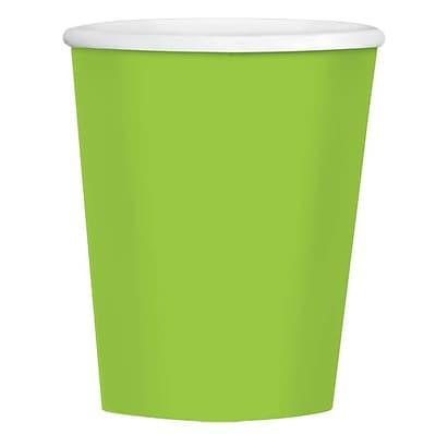 Amscan 12oz Kiwi Paper Coffee Cups, 4/Pack, 40 Per Pack (689100.53)