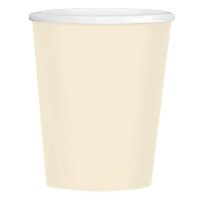 Amscan 12oz Vanilla Creme Paper Coffee Cup, 4/Pack, 40 Per Pack (689100.57)