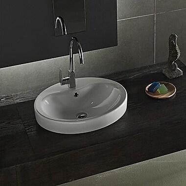 CeraStyle by Nameeks Suit Ceramic Rectangular Vessel Bathroom Sink w/ Overflow