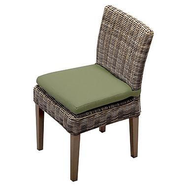 TK Classics Cape Cod Patio Dining Chair w/ Cushion (Set of 2); Cilantro