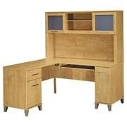 "Bush Furniture Somerset 60""W L-Desk with Hutch, Maple Cross"